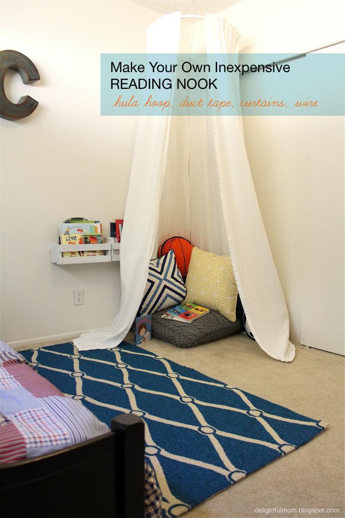 Inexpensive Bedroom Reading Nook Diy Delightful Mom Food Bedroom Reading Nooks Kids Rooms Diy Reading Nook Kids