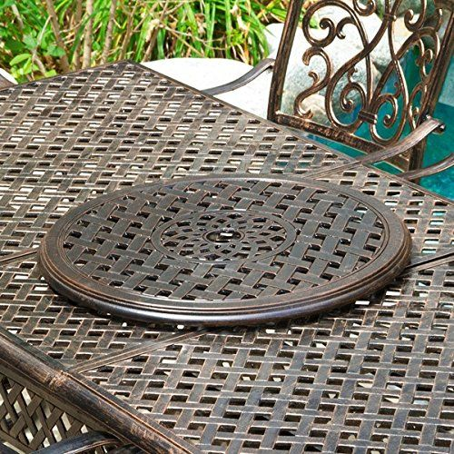 24inch cast aluminum lazy susan for tabletop pantry and cabinet christopher knight home