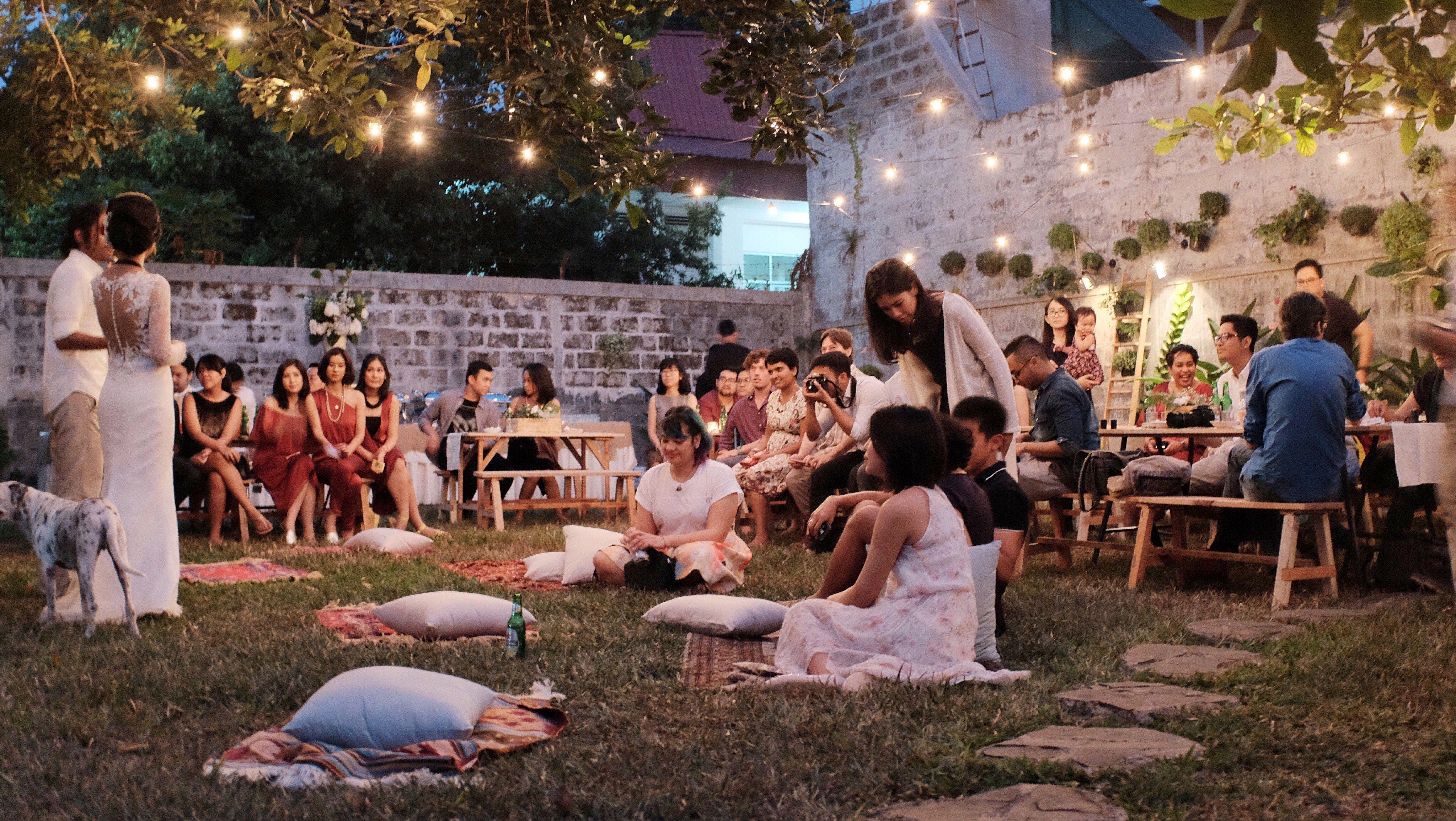 Intimate Rustic Backyard Wedding: Intimate Backyard Wedding Of Rara And Ben