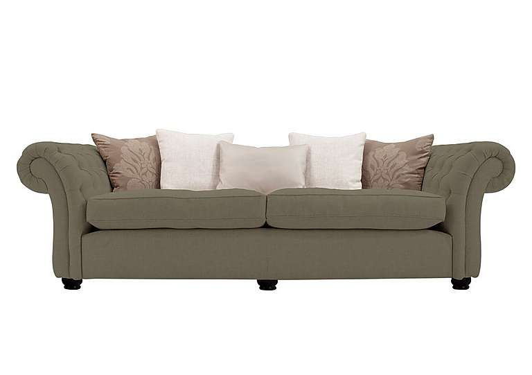Furniture Village Langham Place 4 Seater Fabric Sofa Classic Chesterfield  Style Reimagined For Modern Living Large