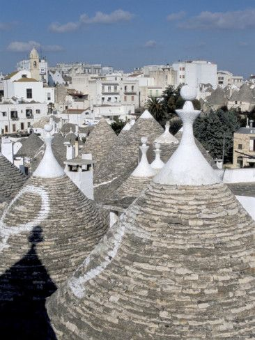 Old Trulli Houses With Stone Domed Roof Alberobello Unesco World