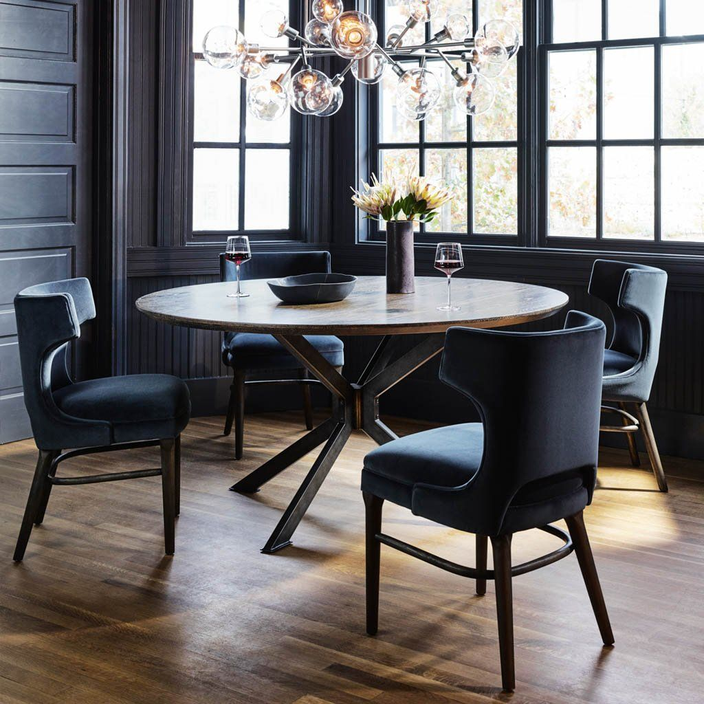 Task Chair   Velvet Shadow in 9   Round dining room table ...