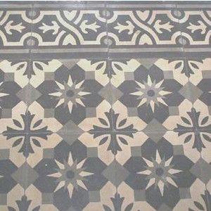 Gray mosaic cement tiles