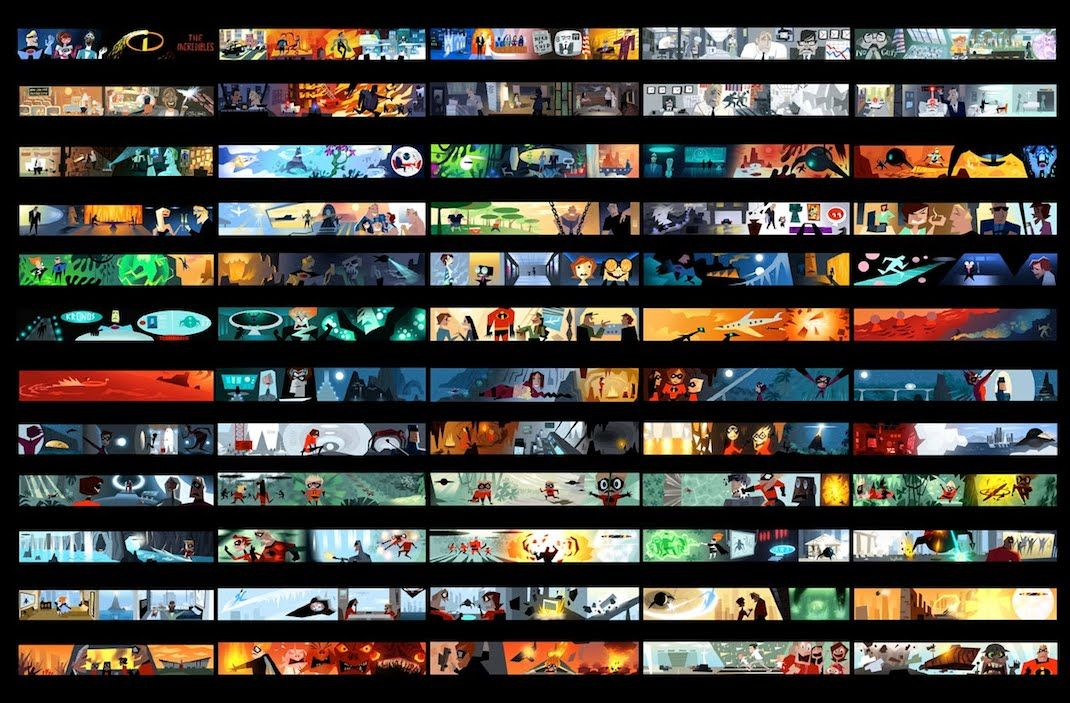 The Incredibles Variant   Color ScriptsStoryboards