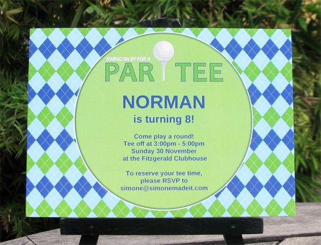 Golf Birthday Party Printable Invitation