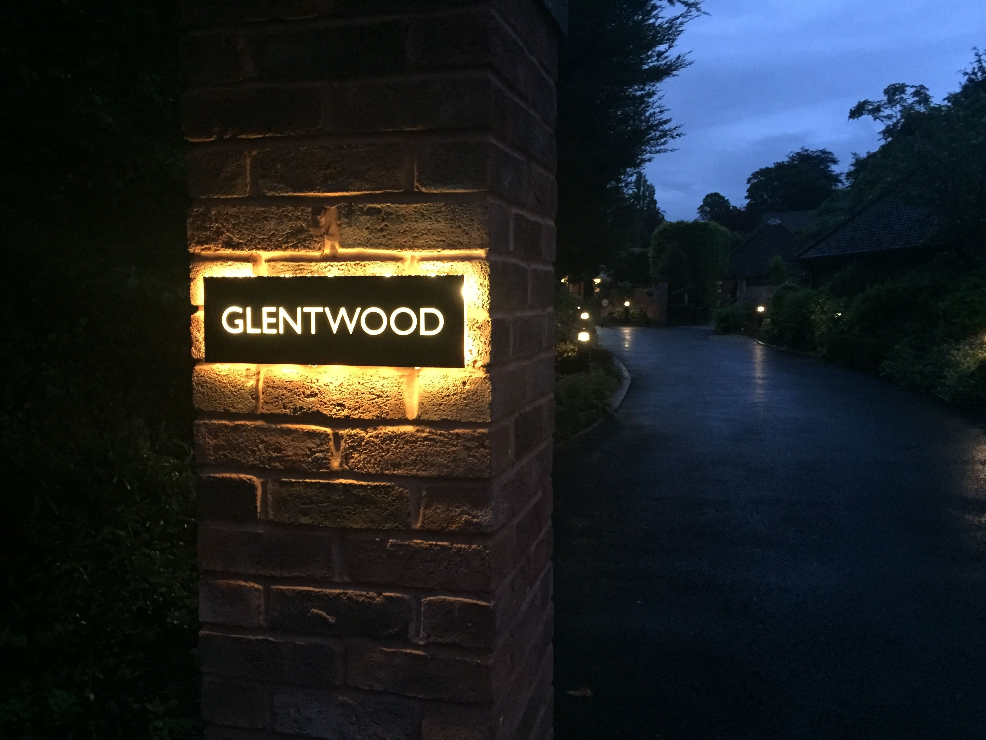 Our latest backlit sign with warm led lights contact us for Contemporary house names
