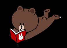Sticker List Line Brown Cony Cute Love Cartoons Cony Brown Line Brown Bear