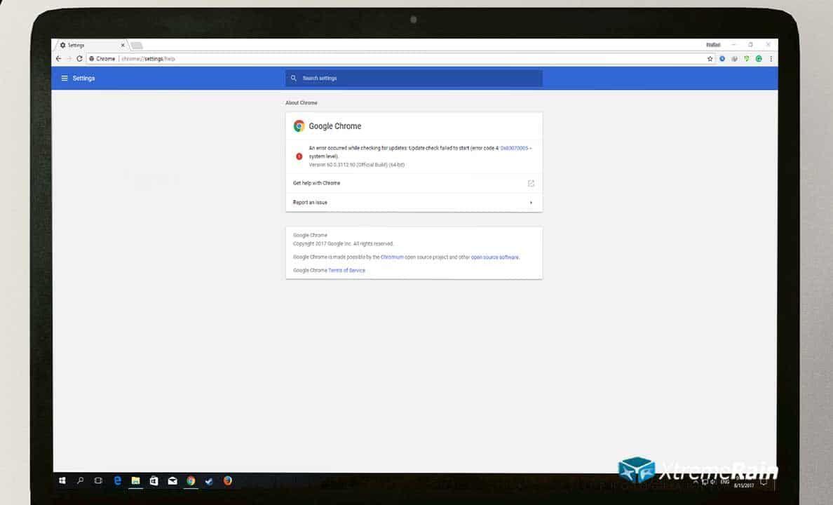 Fix Google Chrome Update Error 4: 0x80070005 - System Level   Pins