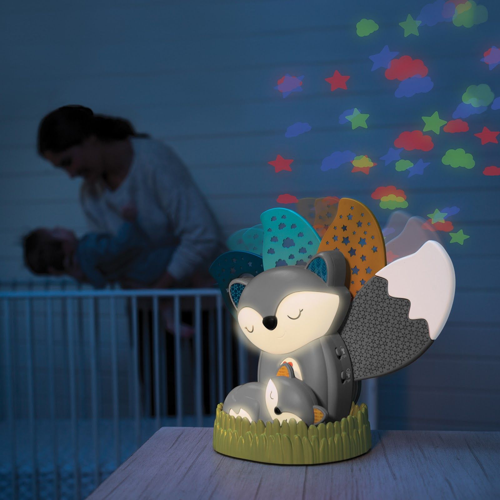 Musical Soother Night Light Projector Go Gaga Grey Night