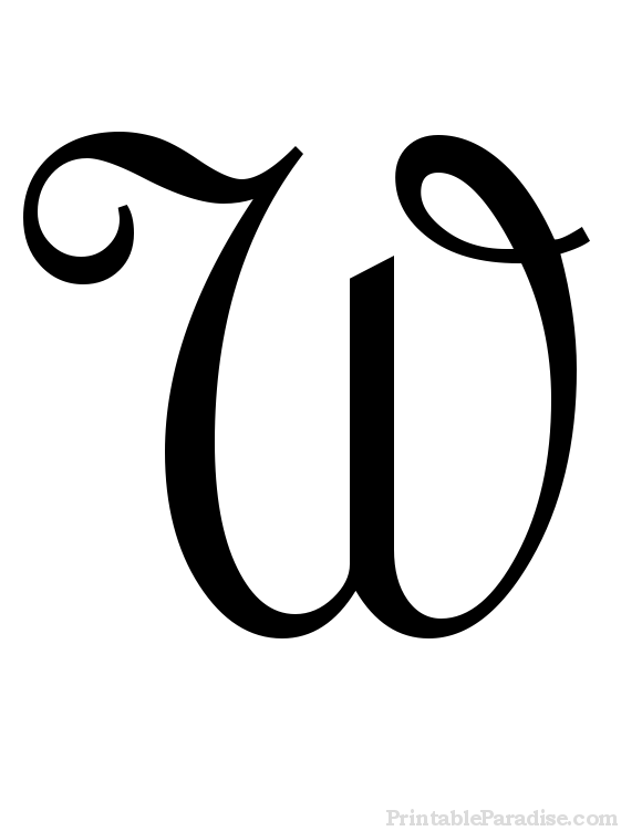 Printable Letter W in Cursive Writing | alphabet | Cursive ...