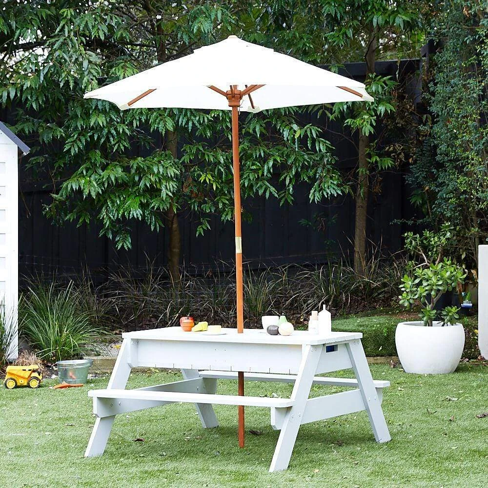 Kids Sand Water Picnic Table With Umbrella In 2020 Picnic
