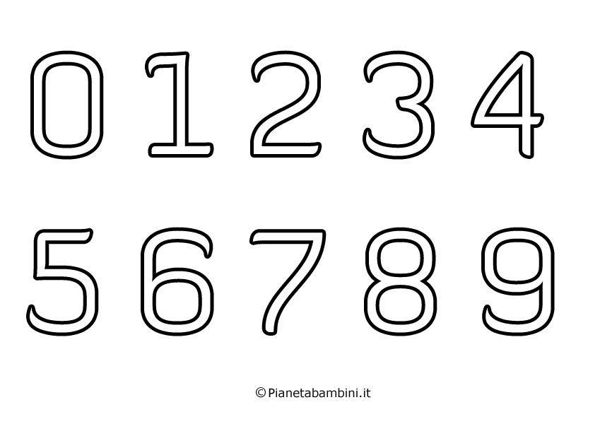 Numeri Da Stampare Colorare E Ritagliare Per Bambini Ritagli Stampe Matematica Per Bambini
