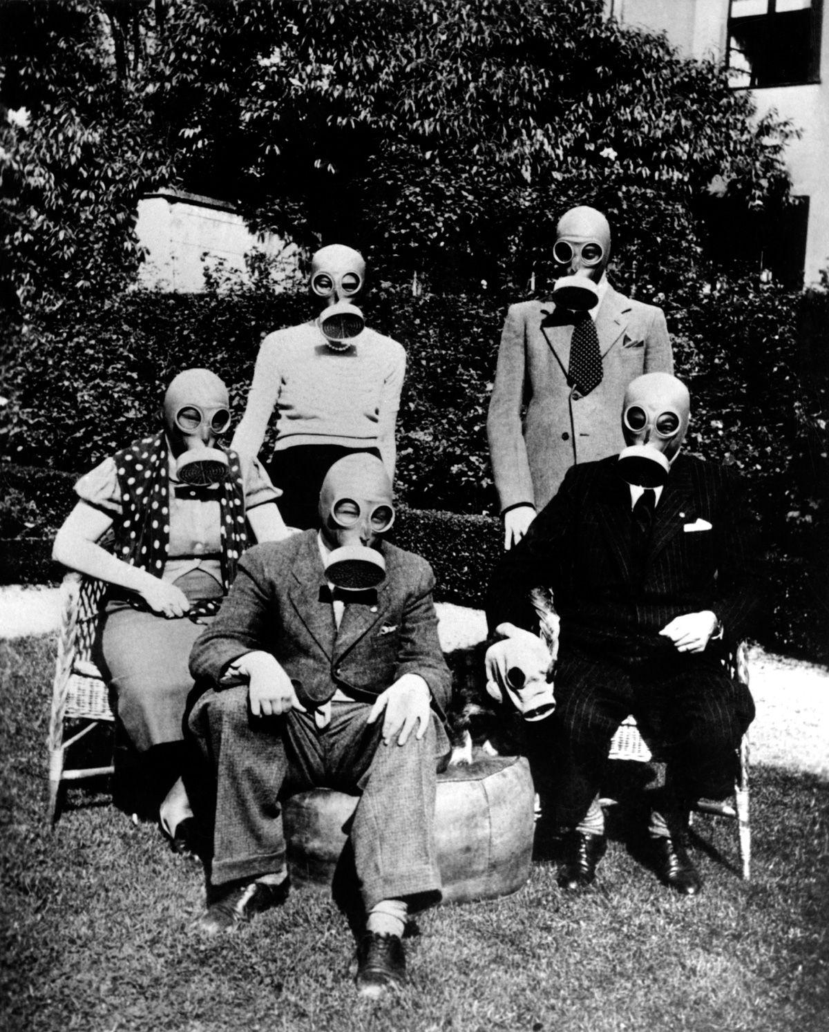 Dogs wore gas masks against threat of chemical warfare | Hundar ...