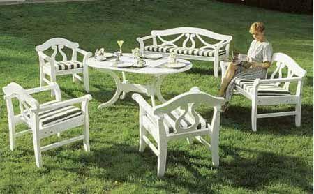 Gartenbank MONACO - wetterfeste Gartenbänke und Gartenmöbel mit 25 ...