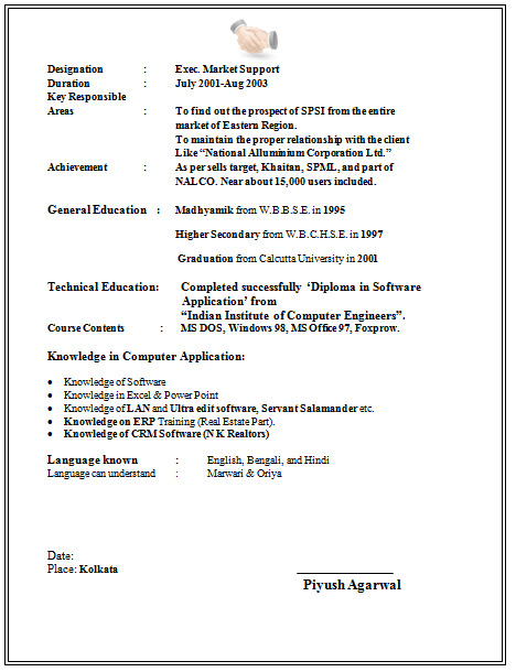 Free Resume Templates For Graduate Students 4 Career Resume
