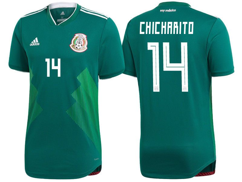 59a2d90f4 ADIDAS CHICHARITO MEXICO 2018 WORLD CUP HOME AUTHENTIC PLAYER JERSEY  PATCHES Discount Price 119.99 Free Shipping