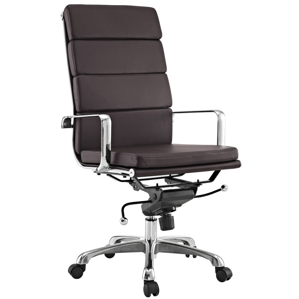 Brown conference chairs - City High Back Brown Vinyl Conference Office Chair Overstock Com