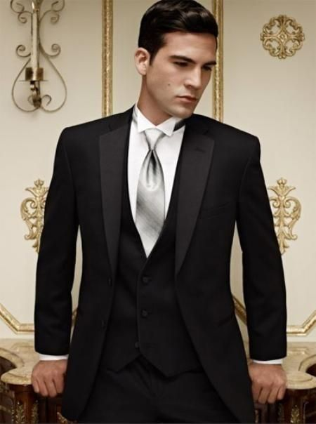Latest Design Mens Dinner Party Prom Suits Groom Tuxedos Groomsmen Wedding Blazer Suits K:1290 jacket+pants+vest+tie