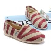 Website with cheap name brand stuff!! Toms shoes Stripe-Red $17.95