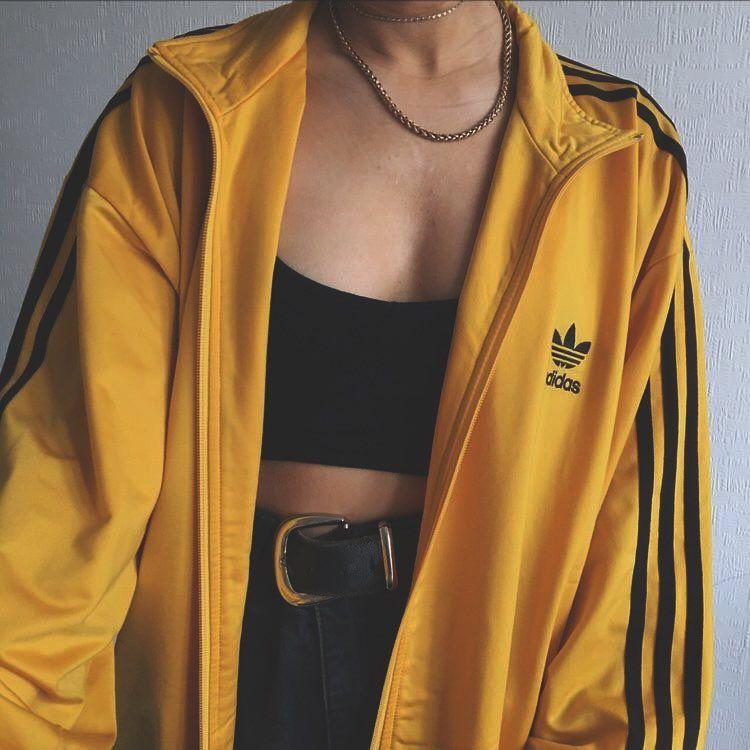 sweat adidas jaune femme