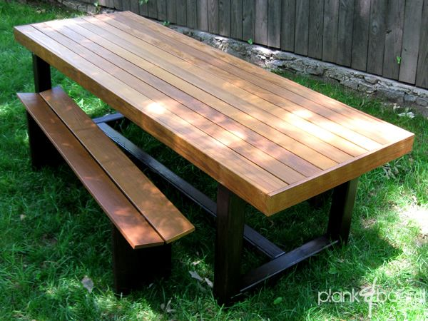 This Outdoor Dining Table Is 8 Feet Long And 3 Feet Wide And Can