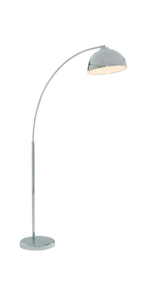 Modern Italian Look Chrome Floor Lamp With Large Domed Shade Floor Lamp Giraffe Lamp Chrome