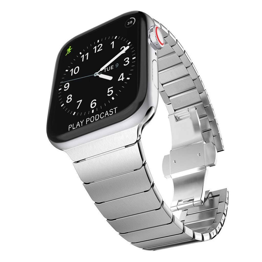 Surace Stainless Steel Link Bracelet Replacement For Apple Watch