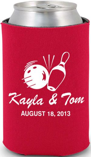 Totally Wedding Koozies.Totally Wedding Koozie Bowling Theme Wedding Design Ya Know If I