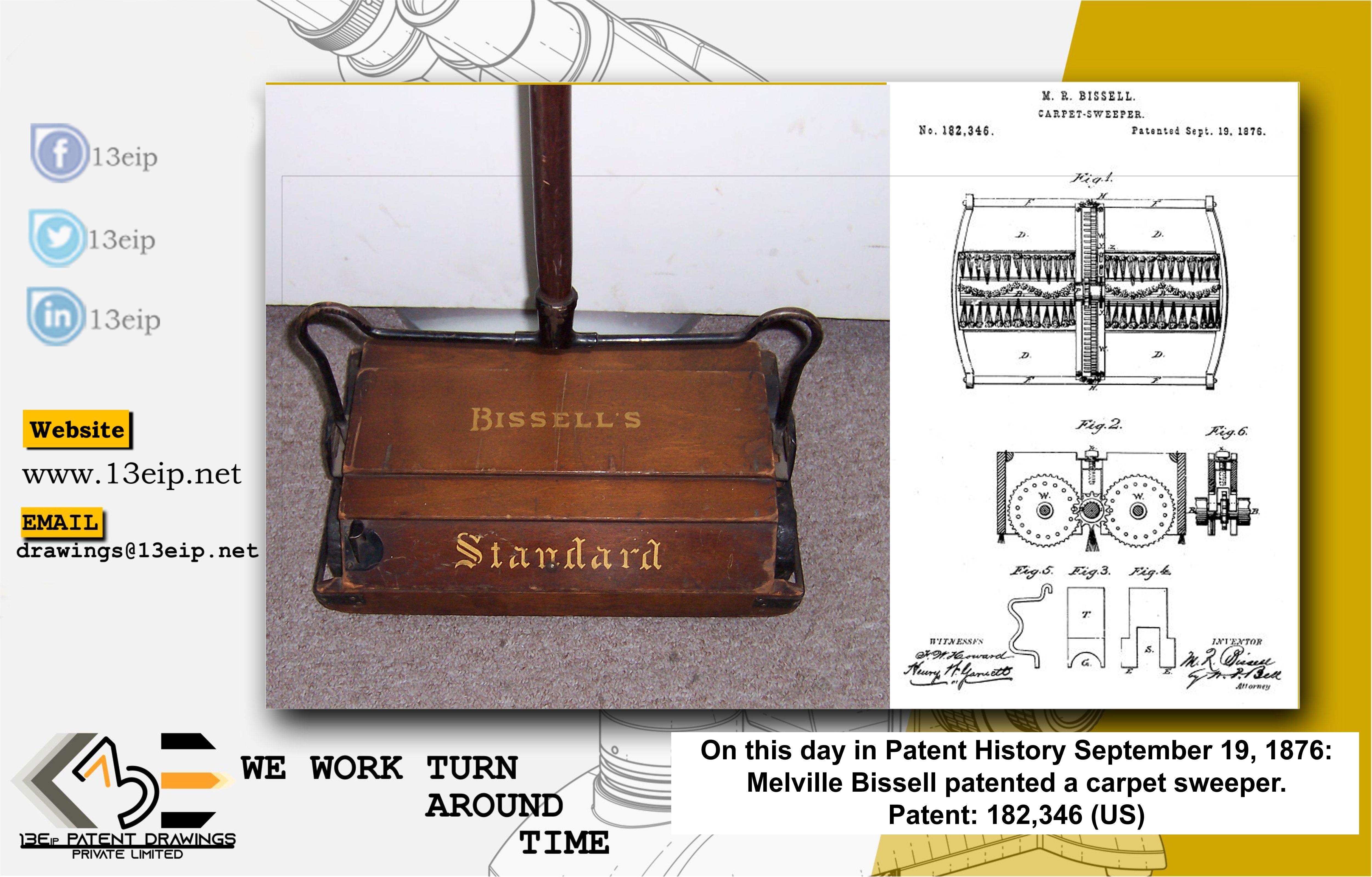 First Carpet Sweeper Trademark Design Patent Drawing Circuit Design