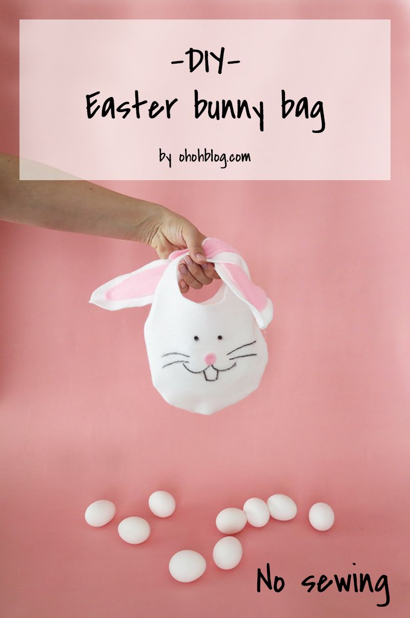 How to make an easter bunny bag no sewing lavoretti primavera