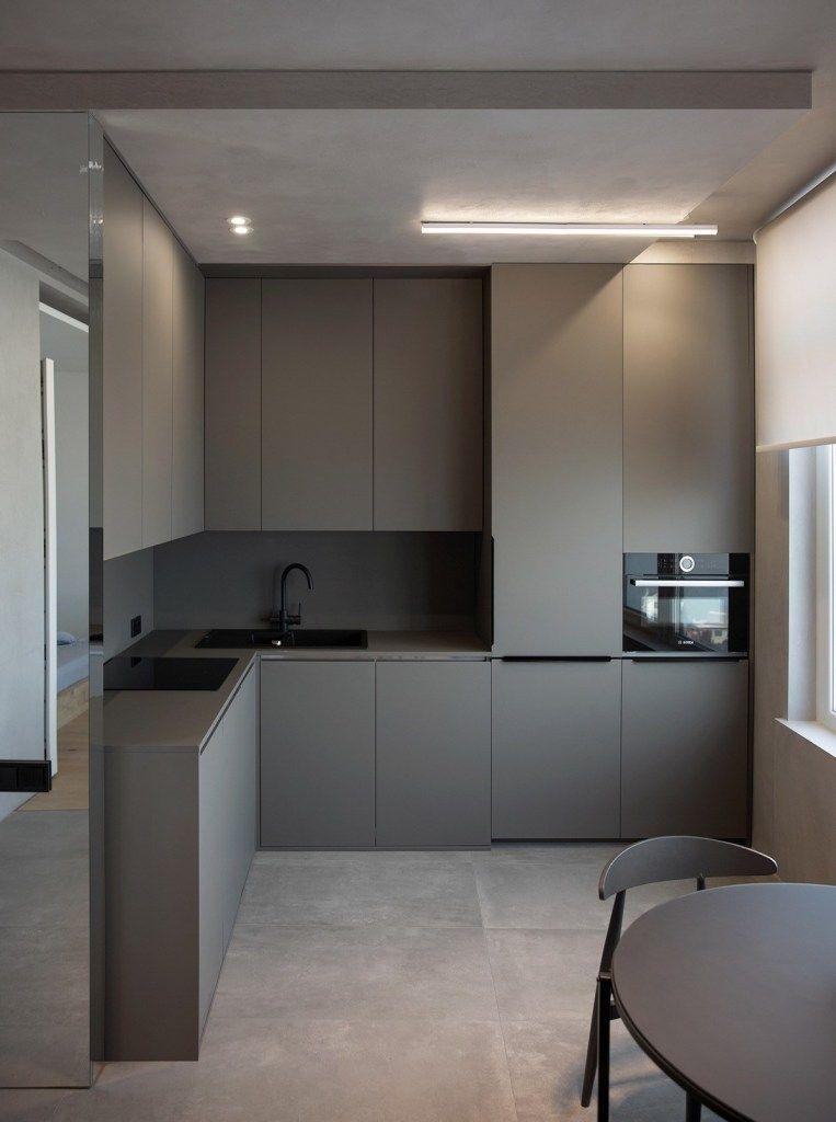 Cucina Grigia Per Casa Piccola Design Cucine Arredo Interni Cucina Cucina Grigia