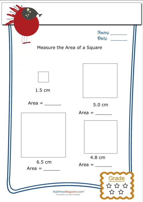 Measuring Area Worksheet Square 4 Area Worksheets Worksheets