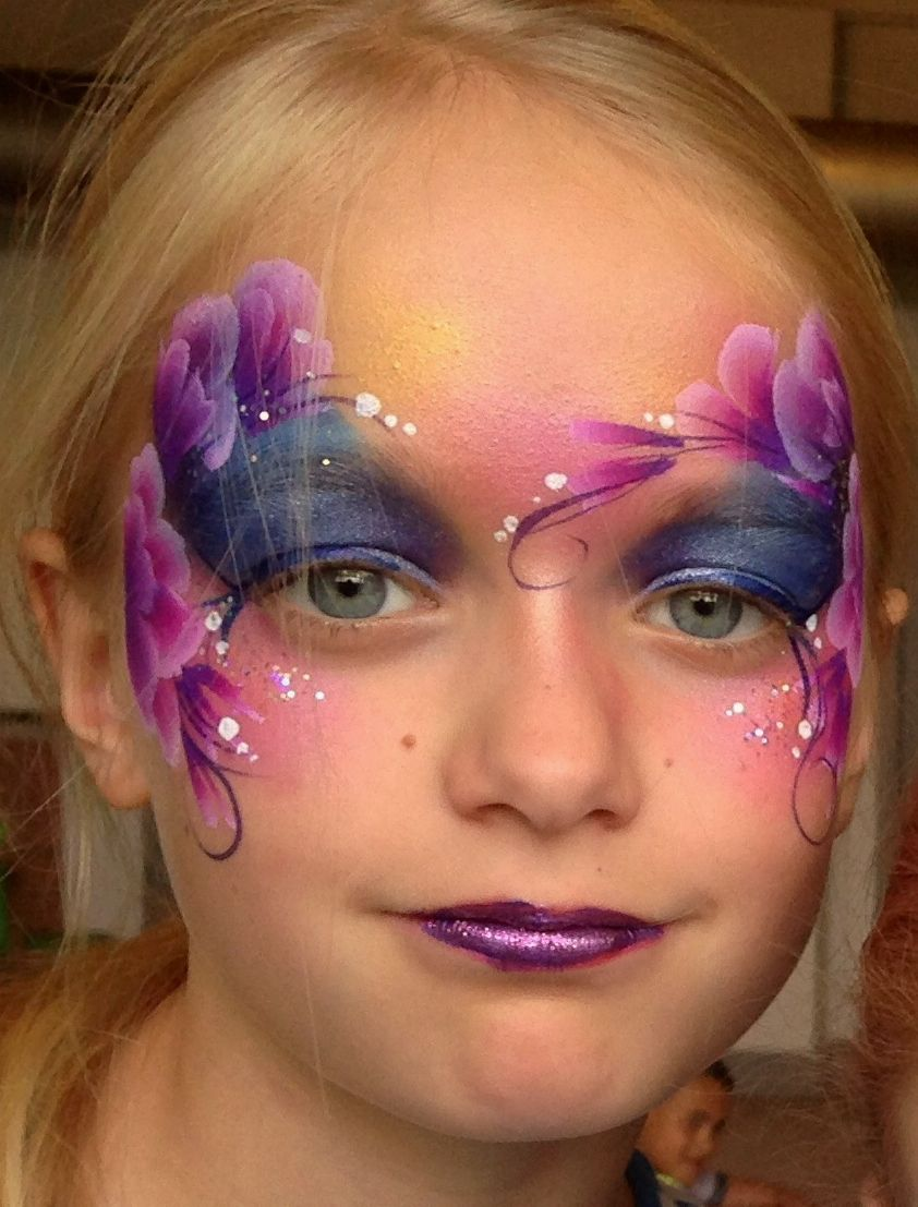 Purple Eye Design Face Painting For Kids By Brierley