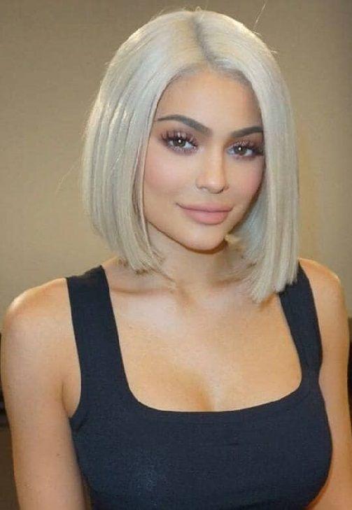 20 Blonde Short Bob Haircut 2017 2018 Pics Bucket Jenner Hair Kylie Jenner Hair Hair Styles