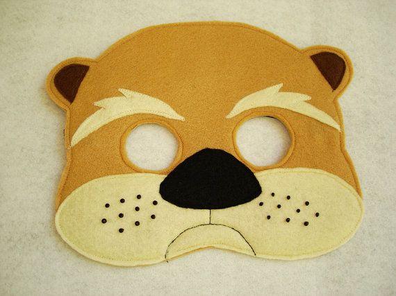 Children S Woodland Animal Otter Felt Mask