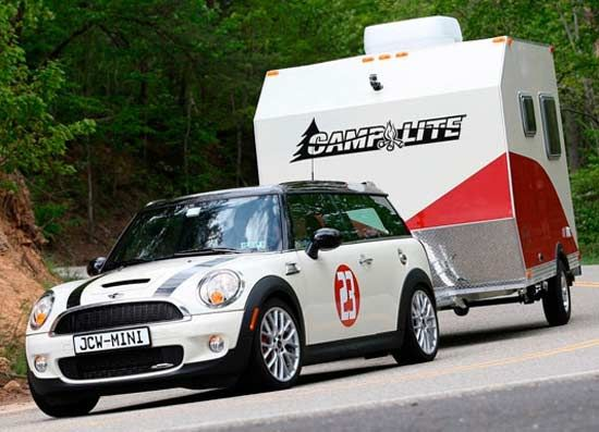 Camplite Travel Trailer Towing With A Mini Cooper My Camp