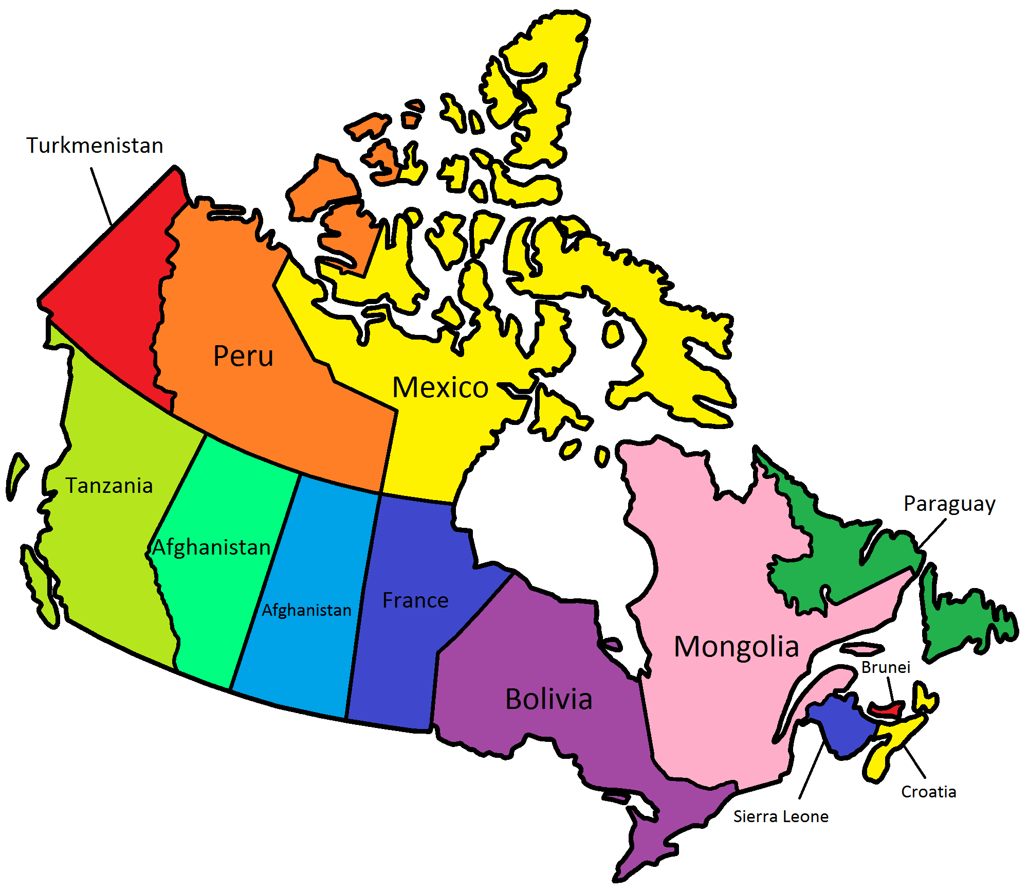 Canadian Provinces And Territories Compared To Countries