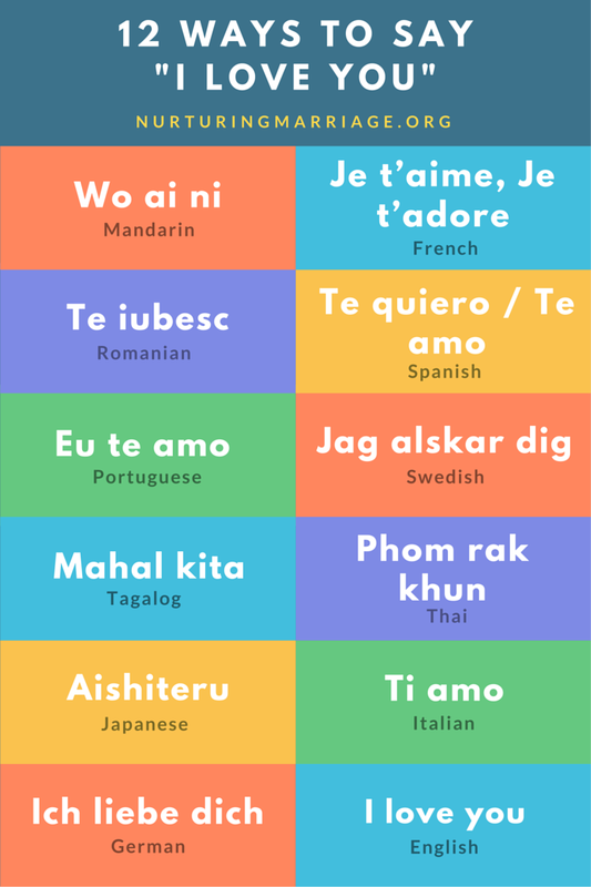 I love you in different languages list writing