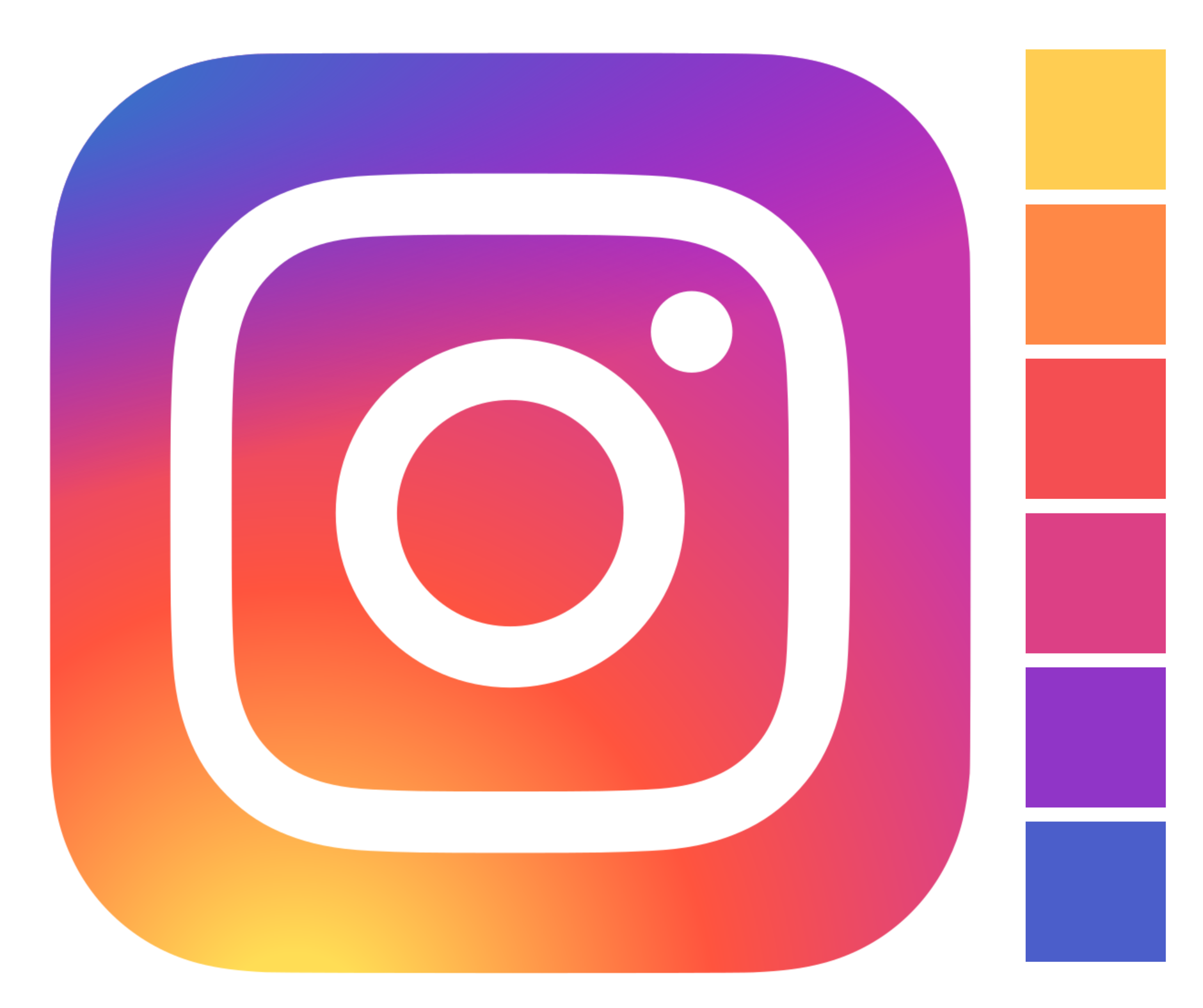 The Instagram logo features a subtle colour gradation from