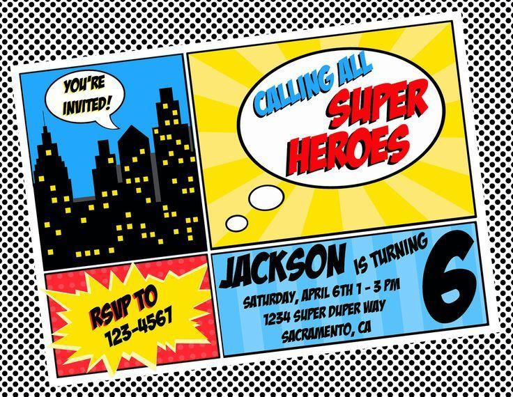 free superhero invitation templates