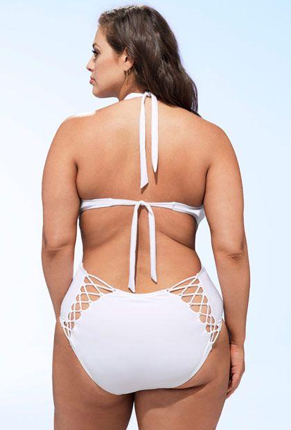 865b6fd3b02 Ashley Graham x Swimsuits For All Profesora White Swimsuit ...