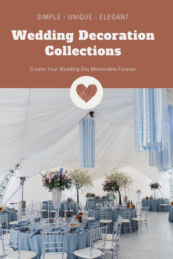 Simple wedding decoration ideas for reception  Unique Wedding Decorations Ideas Album  Unique And Cheap Wedding