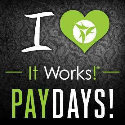 I love this company!!! Getting paid 3 days early just because the CEO & CFO want to surprise us! Getting paid for the work I put in! Feeling valued and loving what I do!?! Yes! I want to help 3 people this month do the same & start making an extra $500 a month for their families! Sign up now under Opportunity at  https://bodyfatwraps.myitworks.com for only $99 using this link  then email me to start your training! I will coach you to success not sign you up & ditch you! Who is with me!?!