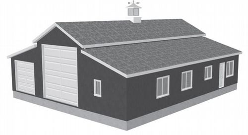 G450 60 x 50 x 10 apartment barn style rv garage plans for 36 x 36 garage with apartment