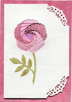 Iris Folding Flower By Eddie Pretty Cards Iris Folding Pattern