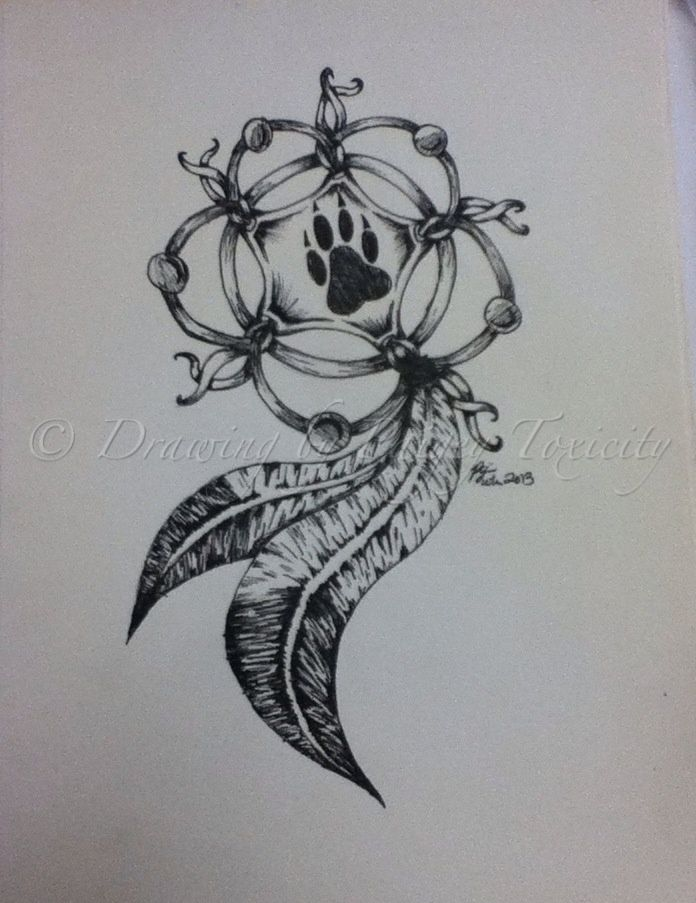 A Design Dream: Wolf Paw Dreamcatcher Tattoo - Google Search