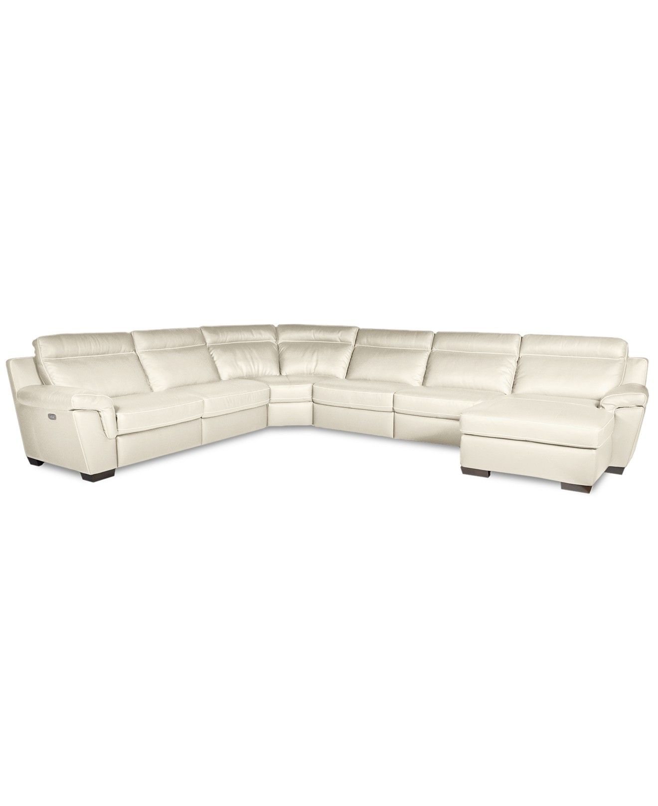 Carrera Leather sectional with chaise Natuzzi