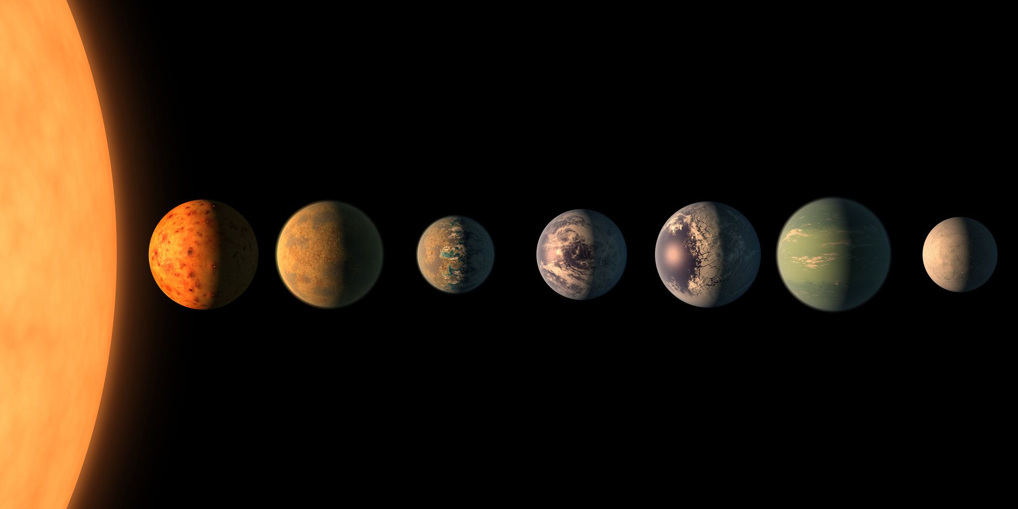 Astronomers are excited by the discovery, which suggests that some of these exoplanets — planets around stars other than the sun — could support life and may be awash in oceans.