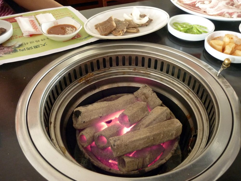 Gallery For Korean Bbq Grill Table Falcons Nest Pinterest