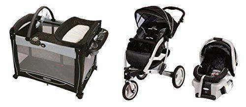 Graco Trekko Swivel Baby Stroller, SnugRide 30 Car Seat & Pack n ...